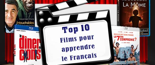 Illustation top 10 films pour apprendre le Francais